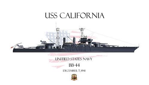 USS California BB-44 1941WL T-shirt