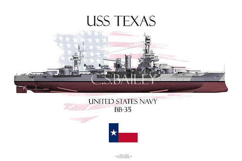 USS Texas  BB-35 Dazzle FH T-shirt