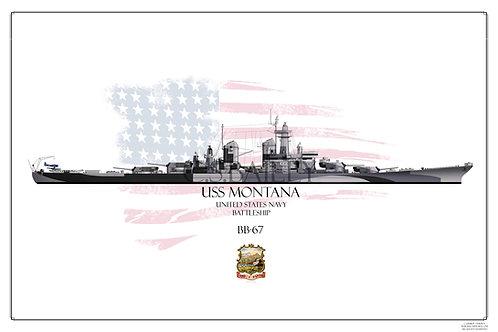 USS Montana Late Dazzle BB-67