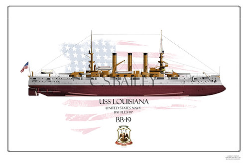 USS Louisiana BB-19 FH Print