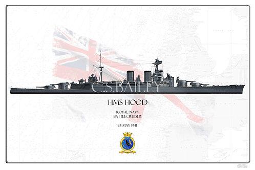 HMS Hood WL Print