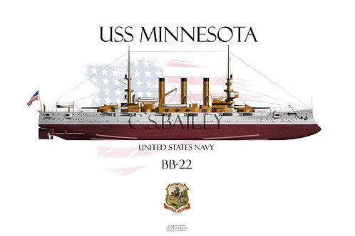 USS Minnesota BB-22  FH T-shirt