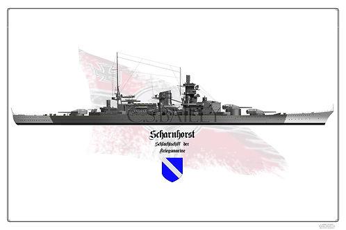KMS Scharnhorst W/L print