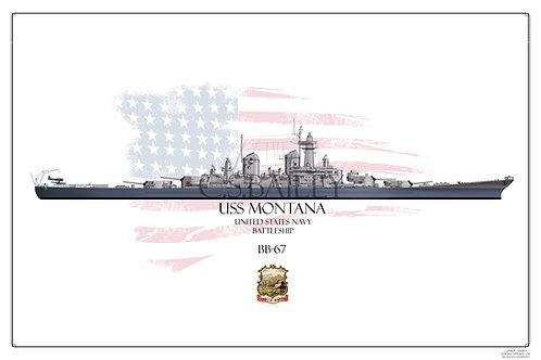USS Montana Early MS-22 BB-67