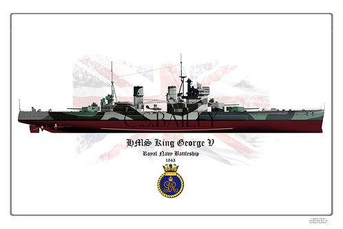 HMS King George V Full hull print