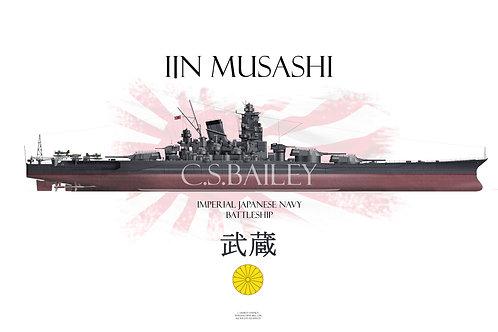 IJN Musashi  FH t-shirt