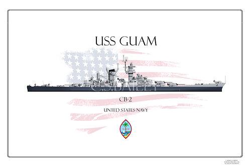 USS Guam CB-2 MS 22 print