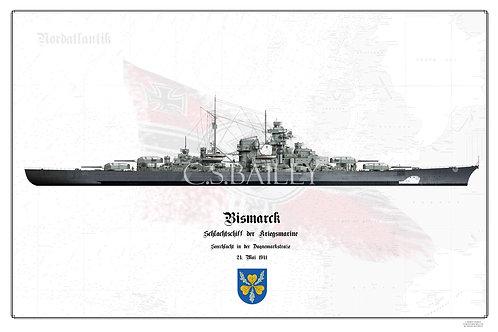 Bismarck Denmark strait camo WL print