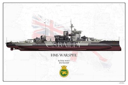 HMS  Warspite FH Print