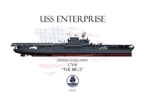 USS Enterprise FH Ms21 T-shirt