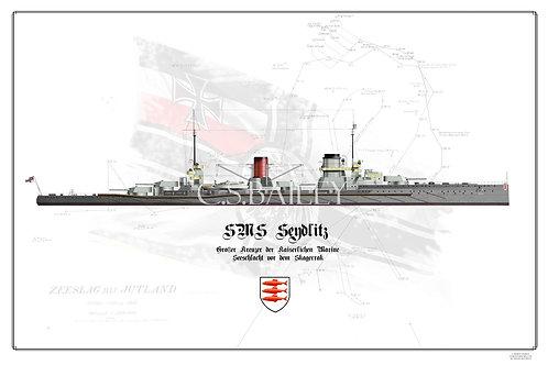 SMS Seydlitz WL Jutland print