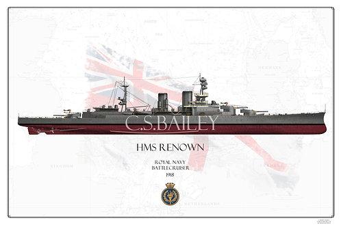 HMS Renown FH 1918  Print