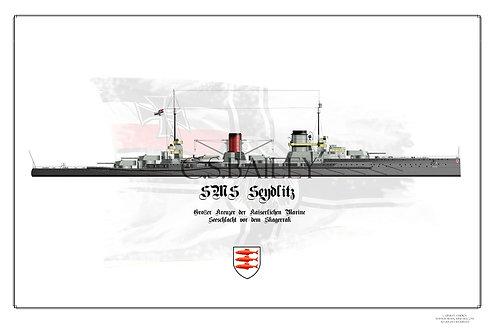 SMS Seydlitz WL Post Jutland print