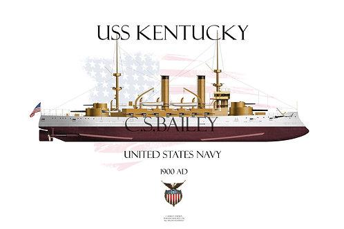USS Kentucky BB-6 FH T-shirt