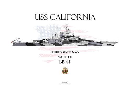 USS California BB-44 1944 WL T-shirt