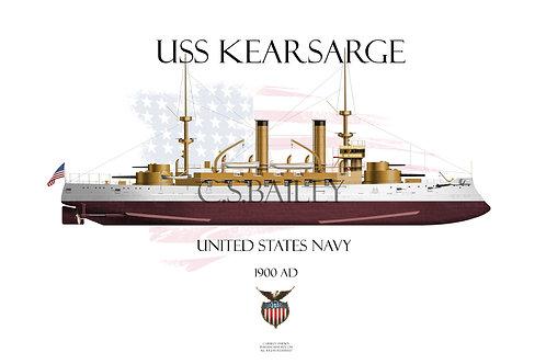USS Kearsarge BB-5 FH T-shirt