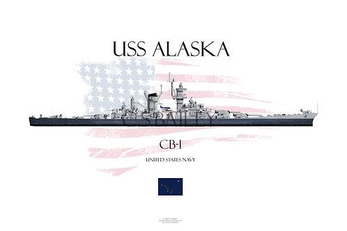 USS Alaska MS 22 WL T-shirt