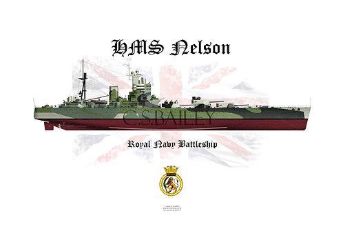 HMS Nelson FH t-shirt