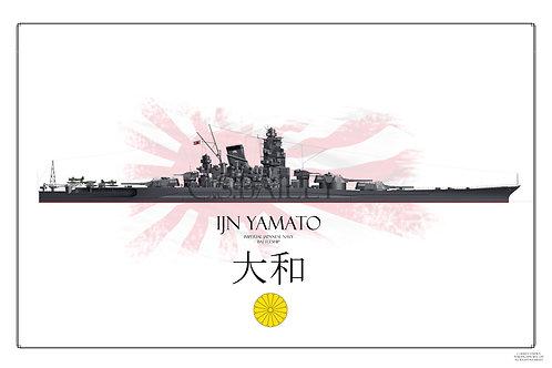 HMS  Yamato WL print