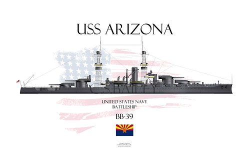 USS Arizona BB-39 1920 WL T-shirt