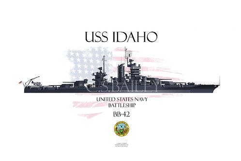 USS Idaho  BB-42 WL t-shirt