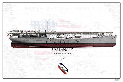 USS Langley CV-1 FH Print
