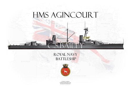 HMS Agincourt WL t-shirt