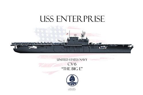 USS Enterprise WL Ms21 T-shirt