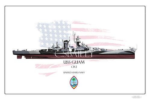 USS Guam Dazzle FH Print