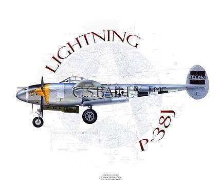 P-38 Lightning Profile T-shirt