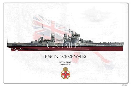 HMS Prince of Wales FH Print