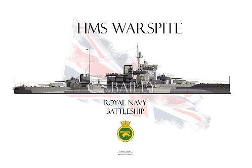 HMS Warspite WL t-shirt