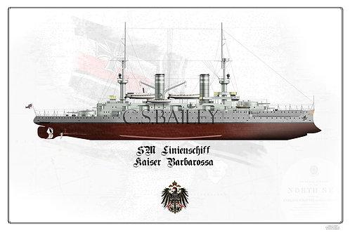 SMS Kaiser Barbarossa FH Print