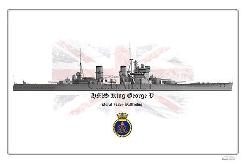 HMS King George V 1940 WL Print