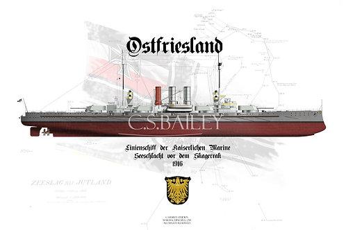 SMS Ostfriesland FH t-shirt