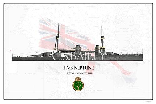 HMS Neptune WL print