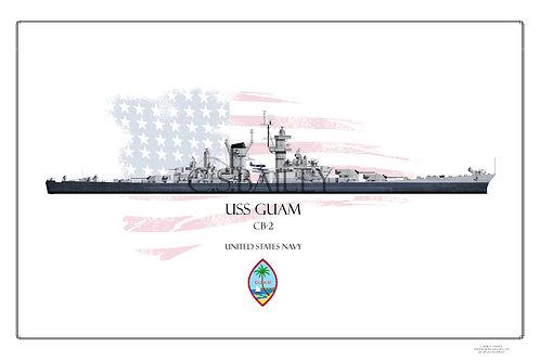 USS Guam MS 22 WL Print