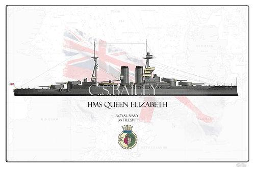 HMS Queen Elizabeth WL print