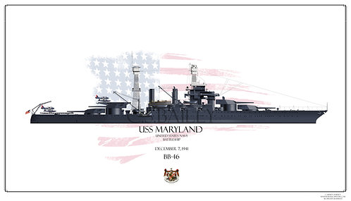 USS Maryland 1941 BB-46