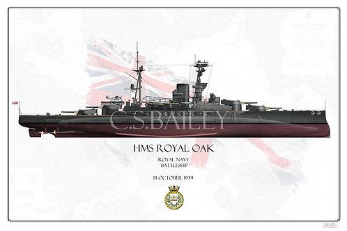 HMS Royal Oak FH print