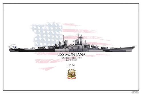 USS Montana Early Dazzle BB-67