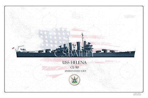 USS Helena WL Print