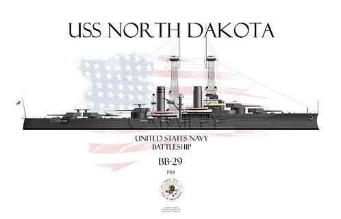 USS North Dakota  BB-29  1918 WL T-shirt