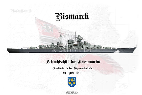 Bismarck Denmark Strait Camo WL t-shirt