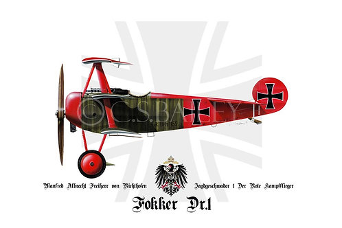 Fokker Dr1 Red Barron