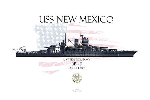 USS New Mexico BB-40  1941 WL T-shirt