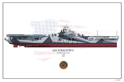 USS Yorktown CV-10 F/H Print