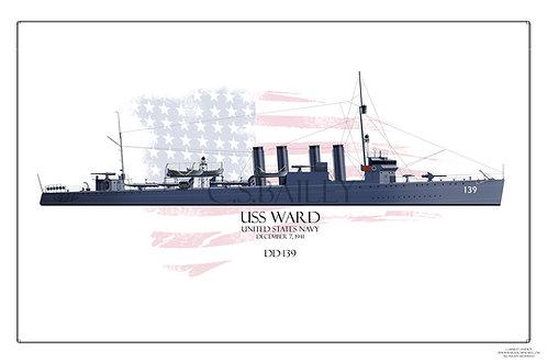 USS Ward WL Print