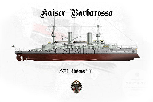 SMS Kaiser Barbarossa FH t-shirt