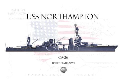 USS Northampton CA-26 WL T-shirt
